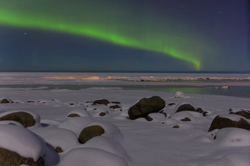 Northern Lights on Lake Ladoga, Leningrad, Russia
