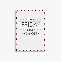picture frame design with black friday