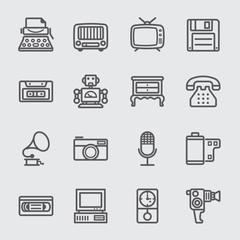 Retro line icon