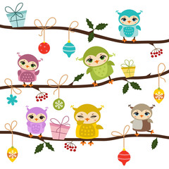Card with cute owls