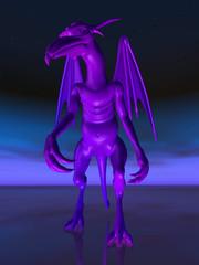 Gargoyle in der Dunkelheit