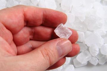 white sugar crystal texture