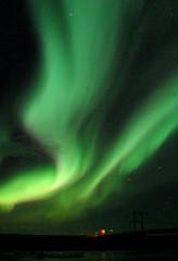 Breathtaking Aurora Borealis Dancing over Jokulsarlon Glacier Lagoon, South Iceland