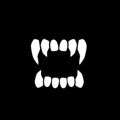 Vampire teeth vector icon.