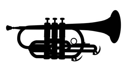 Silhouette einer Trompete