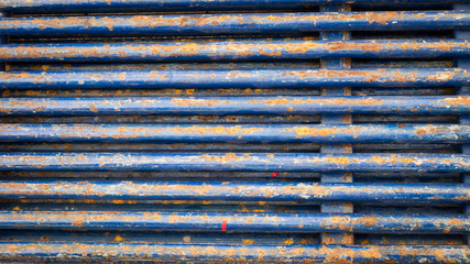 Group of steel rod background
