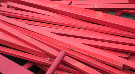 Group of red steel rod background