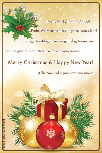 christmas wishes in many languages greeting card 2017 with text in many languages merry - Merry Christmas And Happy New Year In Italian