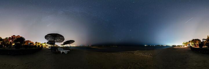 Perseids meteor shower panorama 2016