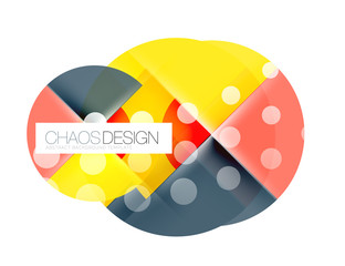 Geometric abstract composition - circles layout