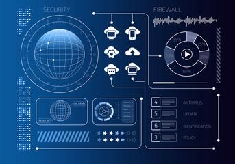 Security virtual interface . Mixed media