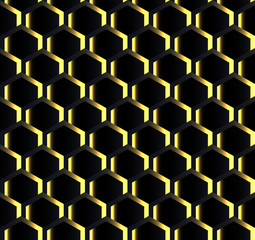 Seamless background wallpaper.Gold on black pattern