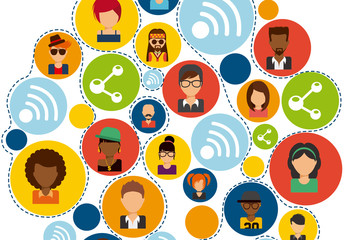 Circular People Avatar Icon Set 1