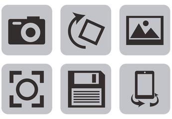 16 Square Multimedia Icons