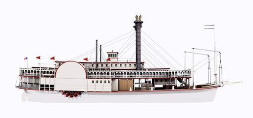 Steamboat of the Mississippi – Side view
