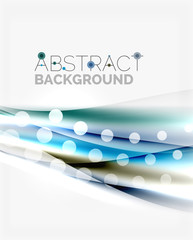 Color wavy lines with light shiny effects. Abstract background template