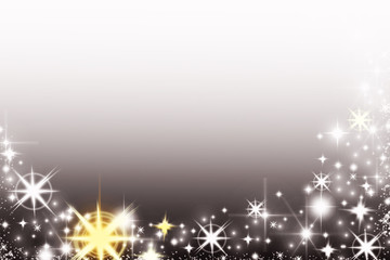 Shiny Christmas background with snowflakes and place for text. Sparkly holiday background with copy space