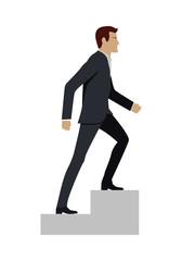 Businessman Walking Up Stairs