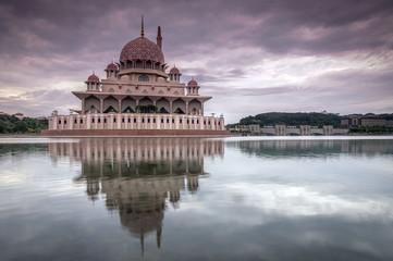 cloudy day at Putra Mosque,Putrajaya