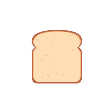 flat design single bread slice