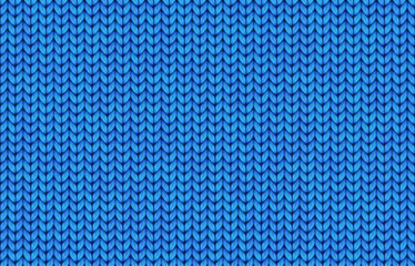 Blue realistic simple knit texture vector seamless pattern