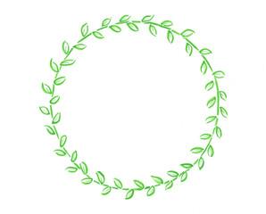 grüner Blätter rahmen