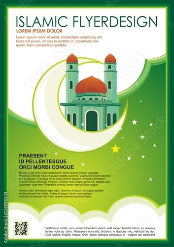 Islamic flyer brochure template design a4 size business for Islamic brochure design