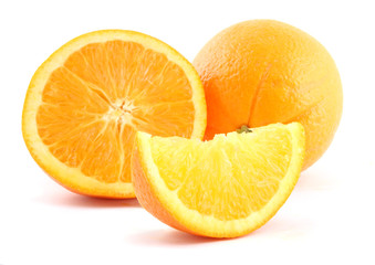 Oranges isolated over white background