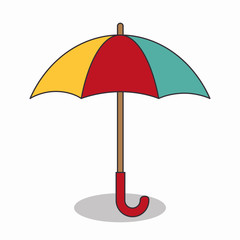 umbrella travel isolated icon vector illustration design