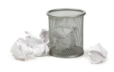 full basket of paper