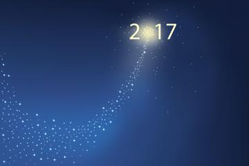2017 - Comète - étoile filante - feu d'artifice
