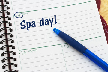 Scheduling your spa day's appointment