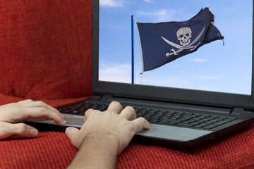 Pirate is  hacking and stealing identity