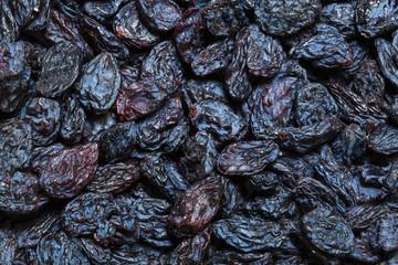 background dried raisin grapes closeup shot