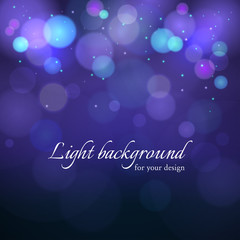 Vector abstract bokeh light background with effect blurred light.