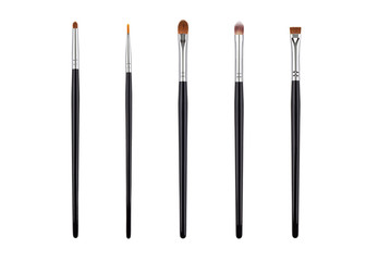 Brow makeup brush set. Isolated. White background