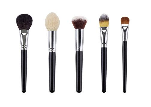 Makeup brush set. Isolated. White background