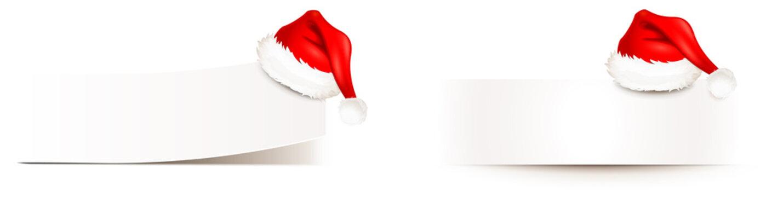 Zettel weiß mit Weihnachtsmütze - Set, randlos