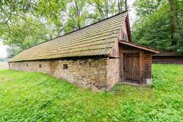 Traditional stone granary - the old manor cellar typical for lesser Poland