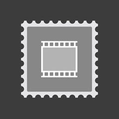Isolated mail stamp icon with   a photographic 35mm film strip