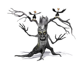 Creepy Tree with Angry Vultures