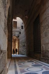 long arched hallway