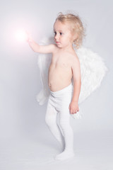 Young angel and light