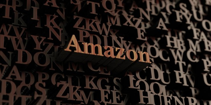 Amazon - Wooden 3D rendered letters/message.  Can be used for an online banner ad or a print postcard.