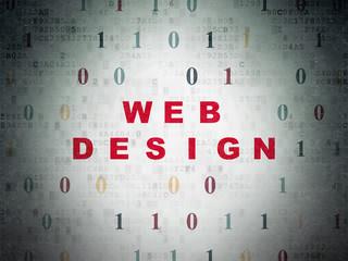 Web development concept: Web Design on Digital Data Paper background