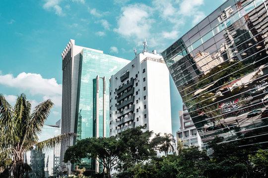 Buildings and Streets of Sao Paulo, Brazil (Brasil)