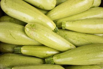 Fresh zucchini. Background
