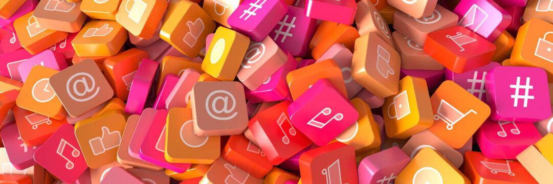 Social media infinite icons