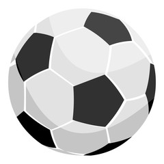 Football icon monochrome. Single sport icon from the big fitness, healthy, workout monochrome.