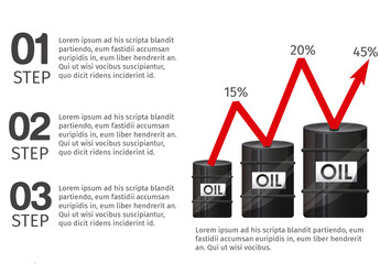 Basic Oil, Energy, and Finance Infographic